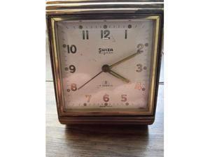 () antico orologio sveglia swiza mignon 7 jewels 8 days