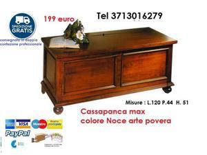 Cassapanca in legno