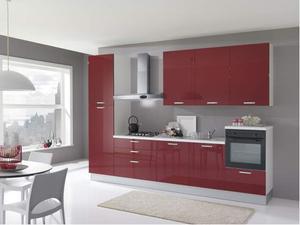 Cucina da cm.330 laccato rosso