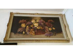 Dipinto ad olio su tela +splendida cornice
