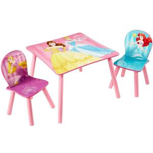 Disney 3 Pz Set Tavolo e Sedie Princess in Legno 45x63x63 cm