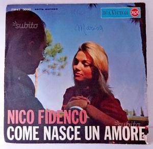 Nico Fidenco disco vinile 45 giri vintage