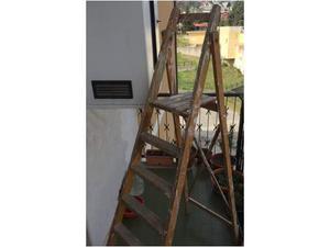Scala a forbice, in legno, 6 gradini