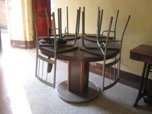 Tavolo rotondo allungabile più 4 sedie
