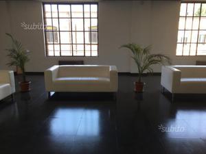 4 divani KLIPPAN eco pelle Kimstad bianco