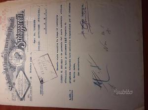 Documenti Originali della 1° e 2° Guerra Mondiale