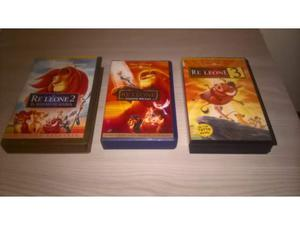 Lotto VHS Disney trilogia il re leone