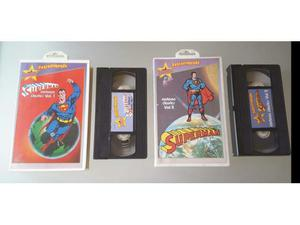 Superman cartoon vol. 1 e 2 vhs stardust fantastimondo