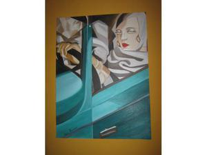 Tamara De Lempicka copia ad olio su tela.
