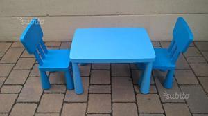 Tavolino ikea mammut con 2 sedie