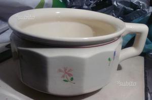Vaso notte pitale ceramica Laveno