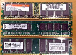 3 banchi di memoria da 1gb ddr400 pc