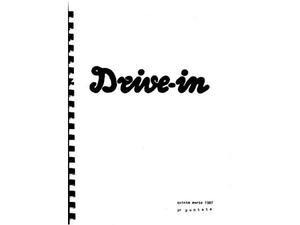 Drive In  * Copione originale