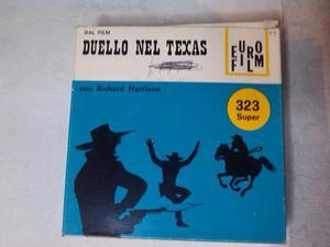 Film sonoro super 8 a colori. duello nel texas