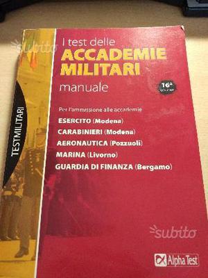 Alpha test accademia militare MANUALE