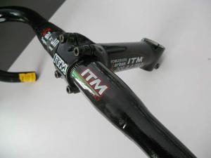 Attacco + piega manubrio ITM Carbon