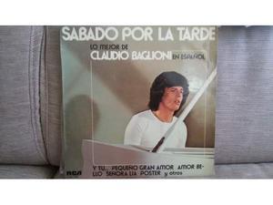 """Claudio baglioni """"sabado por la tarde"""" Lp Spagna"""