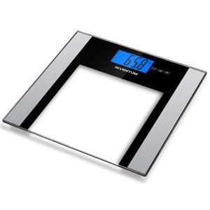 Inventum Bilancia Pesapersone in Vetro Trasparente 180 kg