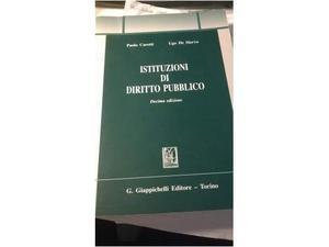 Libro Istituzioni di Diritto Pubblico