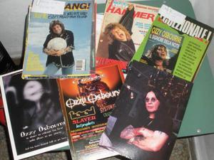 Ozzy osbourne heavy metal articoli ritagli di giornali