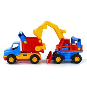 Polesie Wader Set Escavatore e Camion Ribaltabile 45x15x19