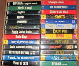 Videocassette VHS Originali SIAE 26 titoli Stock