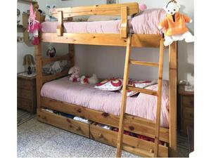 Camera cameretta da letto in legno di pino massello