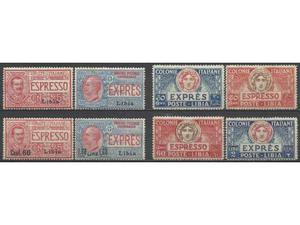 Colonie Italiane Libia  Serie Espressi