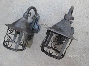 Coppia lampade in ferro battuto