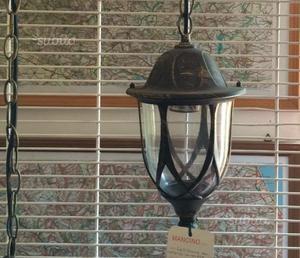 Lampione da esterno in alluminio e vetro