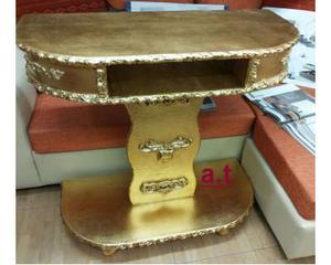 Porta tv oro foglia intarsiato