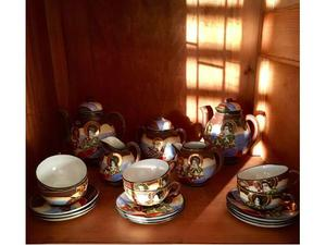 Servizio antico da caffè in porcellana cinese