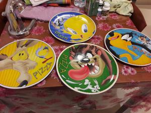 Set 4 piatti pizza Looney Toons
