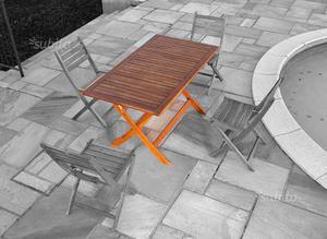Tavolo da giardino pieghevole 135X75cm mod.Enna