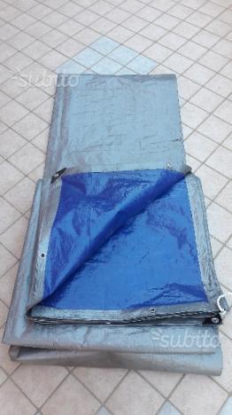Telo resistente PVC occhiellato 12x4. COME NUOVO
