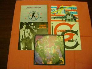 5 dischi in vinile 45 giri