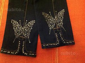 Jeans con Strass Stupendo Elasticizzati TG S Nuovi