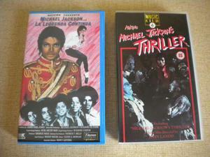 Michael Jackson lotto 2 vhs La leggenda continua + Thrille