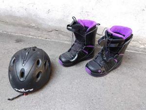 Scarpe snowboard salomon piede dal 38 al 40 e casco