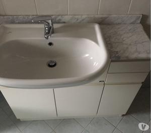 Mobile bagno lavabo lavandino con marmo (no miscelatore)