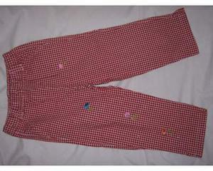 Pantaloni mesi 36 a quadretti bianchi e rossi