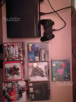 Play station 3 slim 500 gb hard disk con giochi