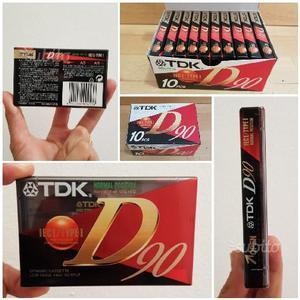 10 cassette audio tdk 90 minuti
