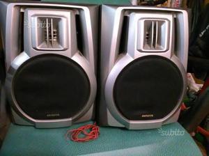 Casse altoparlanti Aiwa 2 vie bass reflex 60 watt,