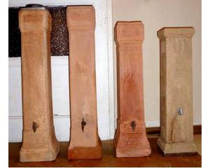 5 tubi di terracotta per stufe a legna Becchi
