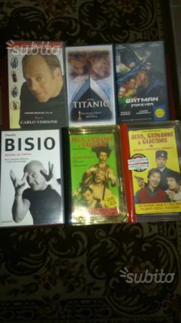 6 videocassette VHS originali per collezionisti