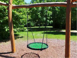 Altalena per bambini rotonda a nido, altalena da giardino