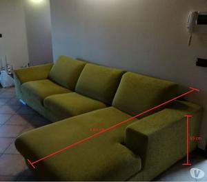 Divano 2 3 posti con penisola staccabile pari posot class - Lunghezza divano 3 posti ...