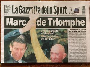 Gazzetta dello Sport  Pantani Tour de France