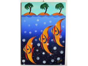 KINO MISTRAL - dipinto su tavola 50x35